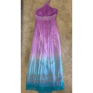 Boho ombré gown by Camile La Vie
